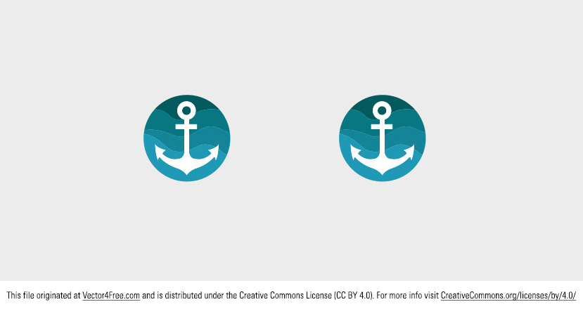 Here's a new cute free vector anchor! I hope you can use this anchor vector in your summer and nautical projects. 