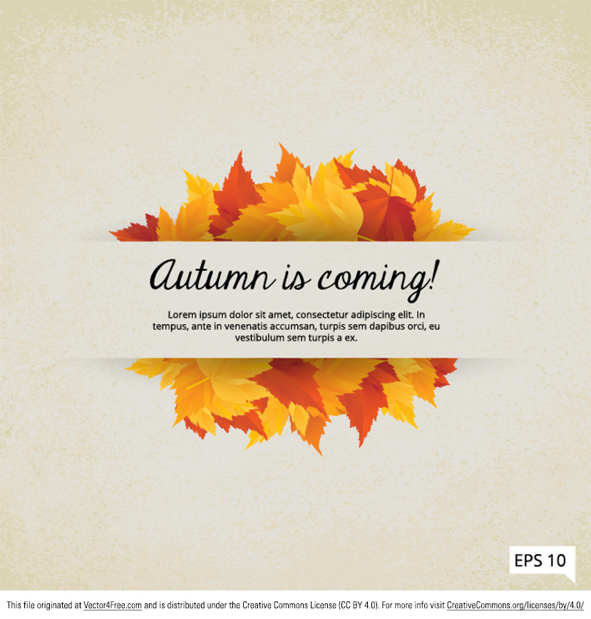 Autumn is coming indeed! Use this Fall is Coming Leaves Vector Frame to usher in the new season in style. Hope you can use this leaves vector frame in your work!