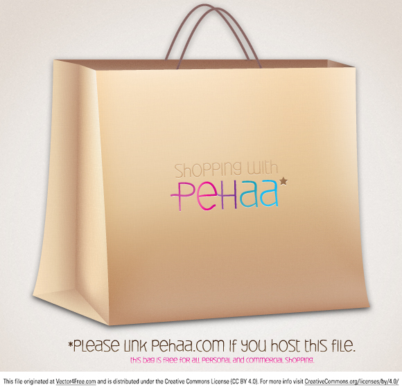 A typical shopping paper bag. Please link pehaa.com if you host this file.