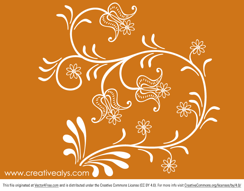 Beautiful flower vector  is an amazing piece of graphic design. You can use it on your website or blog background to make your web looks even more fantastic. It's in Adobe Illustrator AI format and is free for both personal and commercial use.