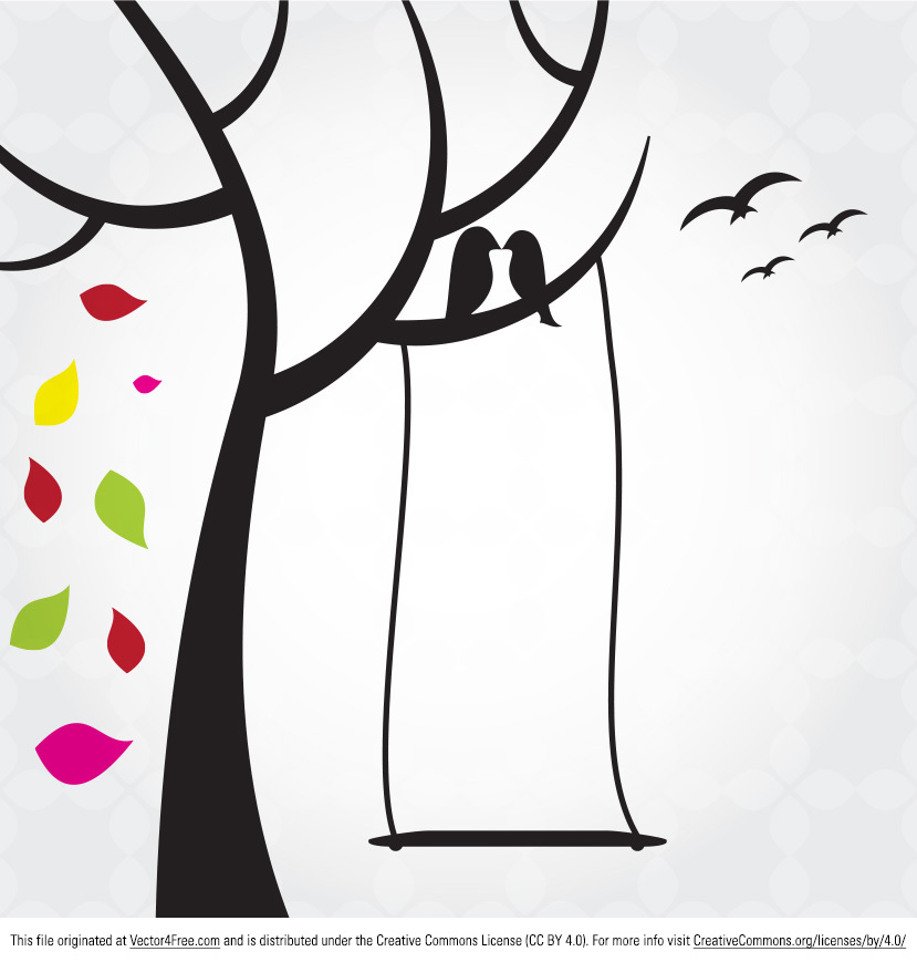 Your modern designs are missing the Birds in Tree Vector. Use this birds in tree vector to add warmth to your work. The new free Birds in Tree Vector also contains flying birds and falling leaves.
