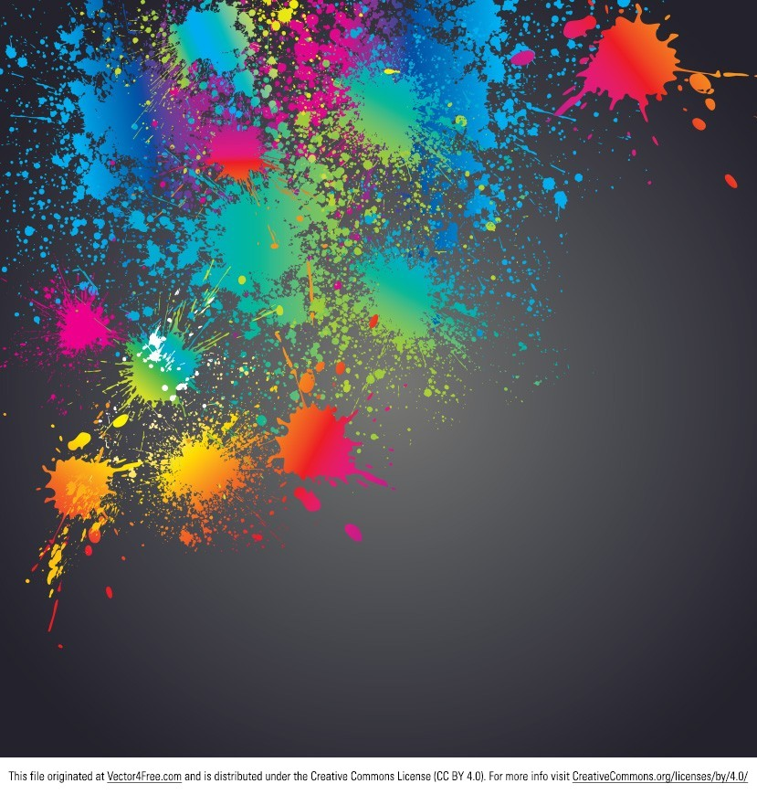 Color Splatter Vector Colorful Splatter Vector