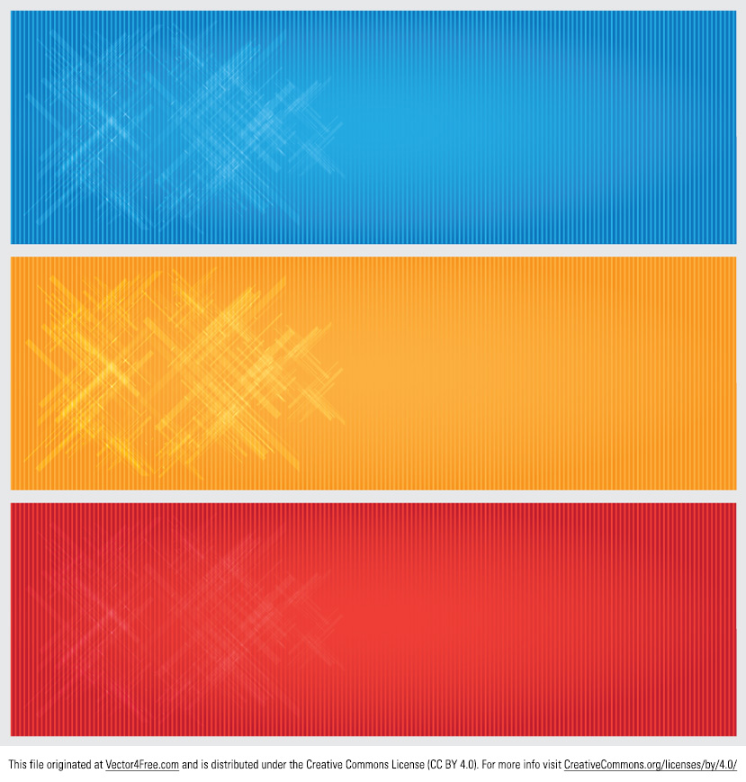 Update your designs with these free Bright Modern Banner Vectors. You can use these bright modern banner vectors for any of your projects. They come in blue, yellow and red, but you can edit these banner vectors into any color you want.