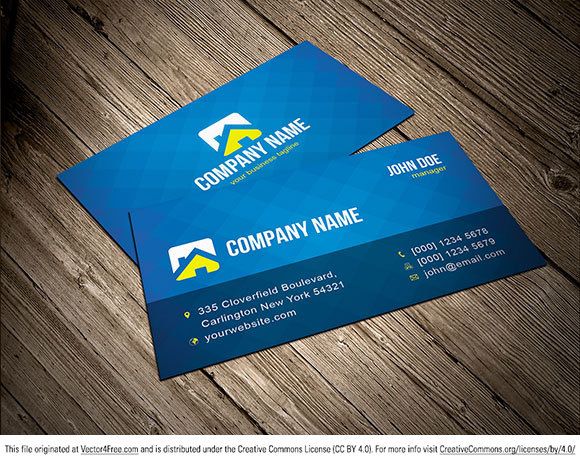 Free Vector Business Card Template - Free business card layout template