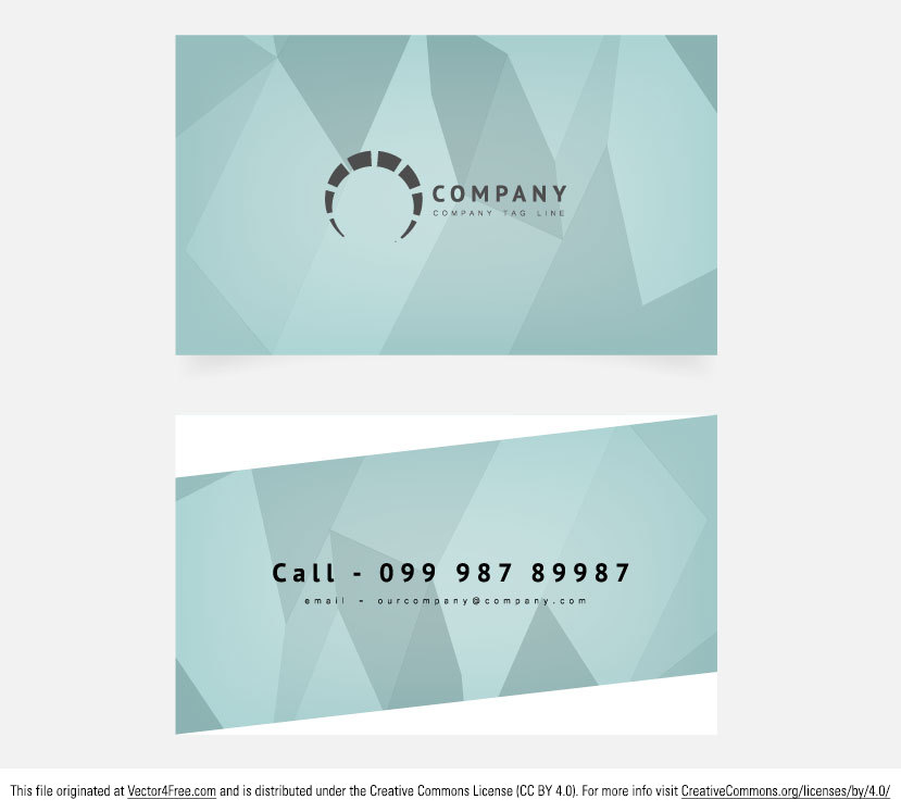 Here's an awesome and trendy abstract business card with a clean design from www.digimadmedia.com