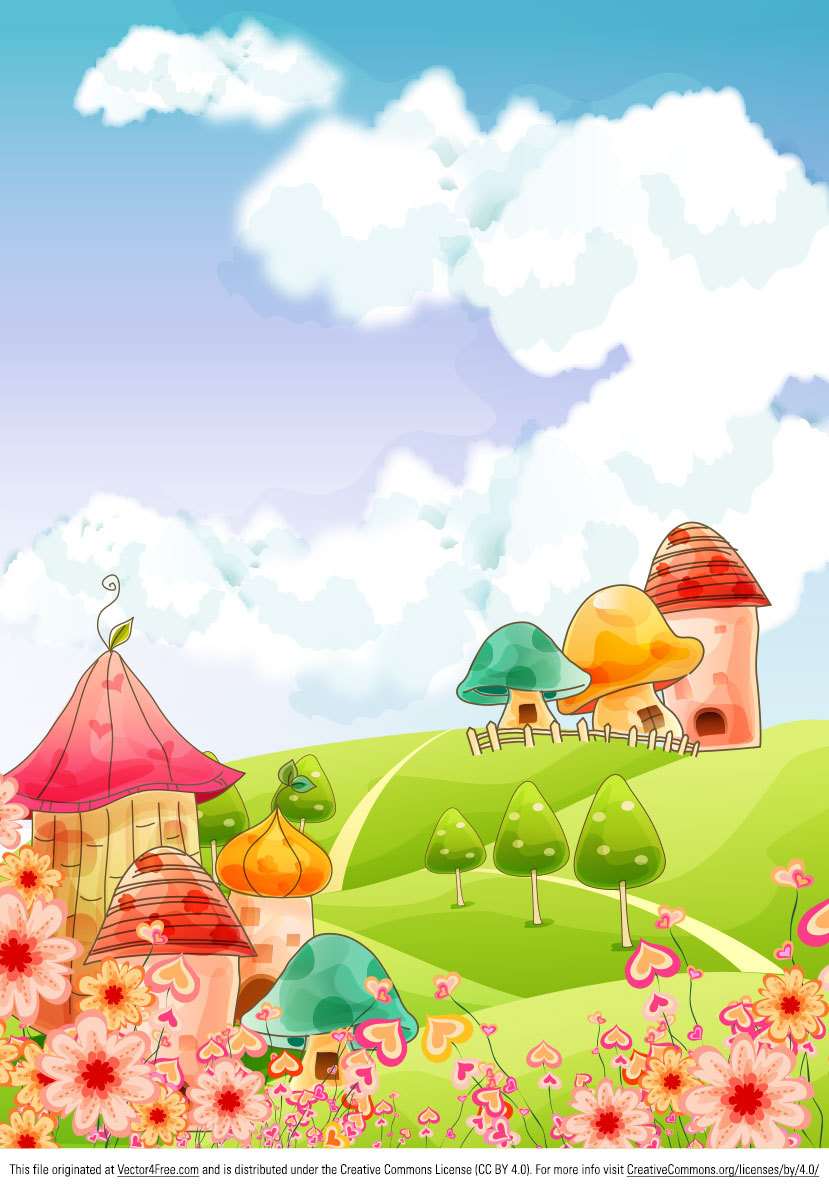 vector cartoon landscape backgroundsfree - photo #27