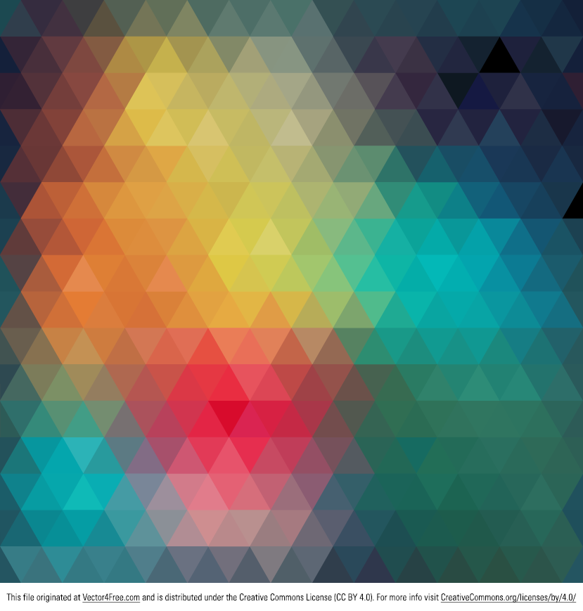 We would like to share with you cool geometric colorful vector. This abstract vector graphic consists of triangles. Download and use it for free.