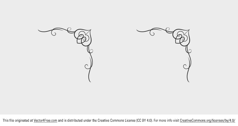 Today's freebie is a Corner Ornament. This free corner ornament vector has a great swirly flourish look.  Feel free to use it in commercial and non-commercial projects, personal websites and printed work, as long as it's a part of a larger design.
