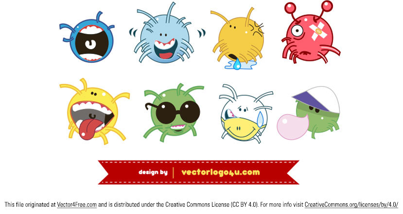 Character Design Books Free Download : Free cute ball character monster vectors