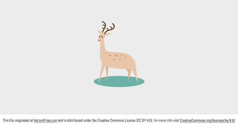 Today's the day to download this cute free vector deer. Use this vector deer to create lots of animal projects. Today's freebie vector is a vector deer. Feel free to use it in commercial and non-commercial projects, personal websites and printed work, as long as it's a part of a larger design.