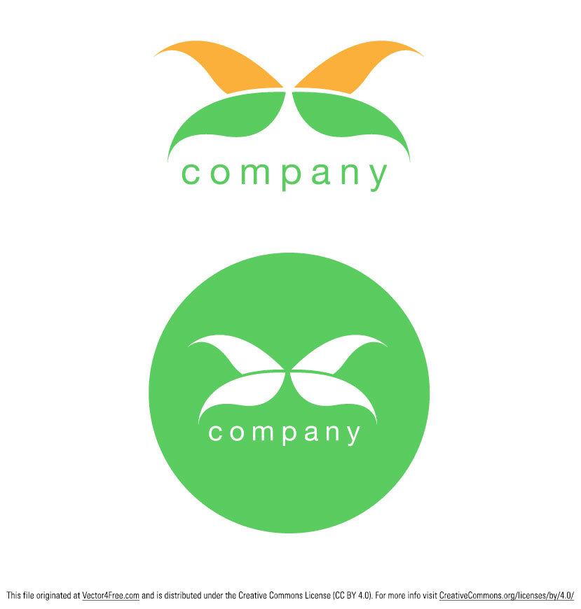 Abstrct simple butterfly logo vector designs created by www.digimadmedia.com