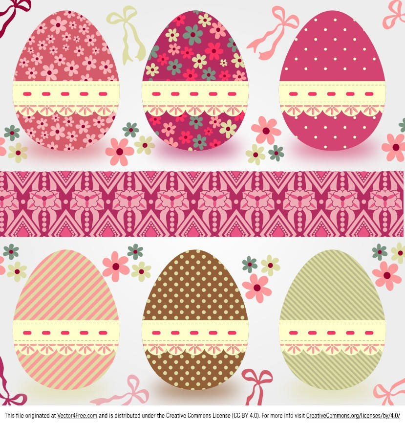 free easter eggs vector 2 - Pictures Of Easter Eggs 2