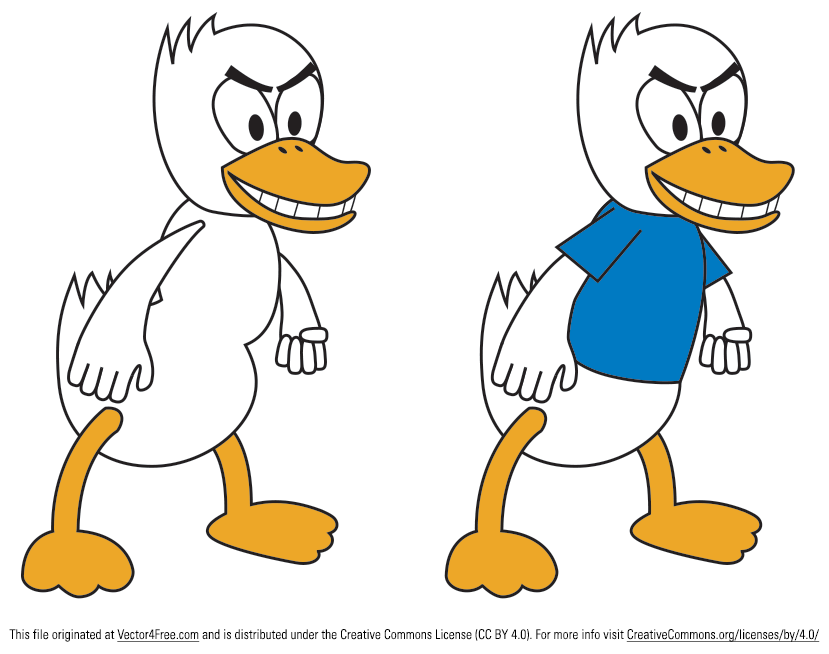 Check out these two new versions of my cartoon duck vector. One of these duck vectors has a plain tshirt, while the other one does not. Use these duck vectors for your next project!