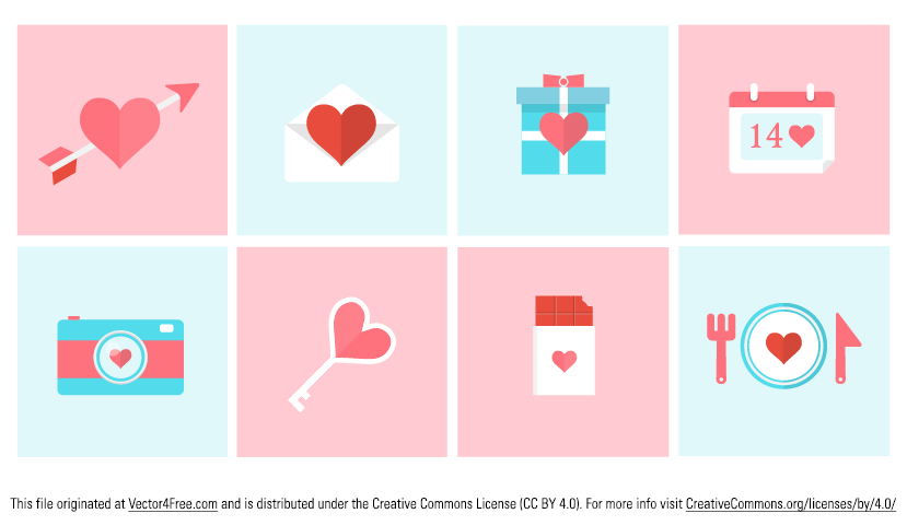Here is my new set of 20 flat Valentine day icon vectors. These Valentine icon vectors are free for personal and commercial use. High quality icons scale to any size, The set includes icons of love arrow, gift box, calender, chocolate, camera, teddy, love angel and many other favorite valentine icons.