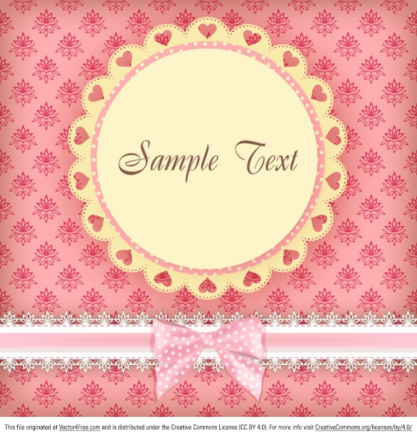 Sweeten up your day with this Floral Pink Card Vector template! With hearts and floral elements, many people will enjoy this floral pink card vector! Grab this floral pink card vector design and start saving time.