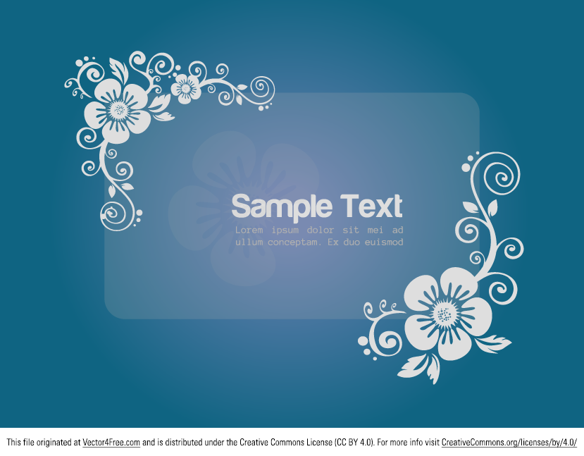 Floral Banner vector template is free for both personal and commercial purpose.