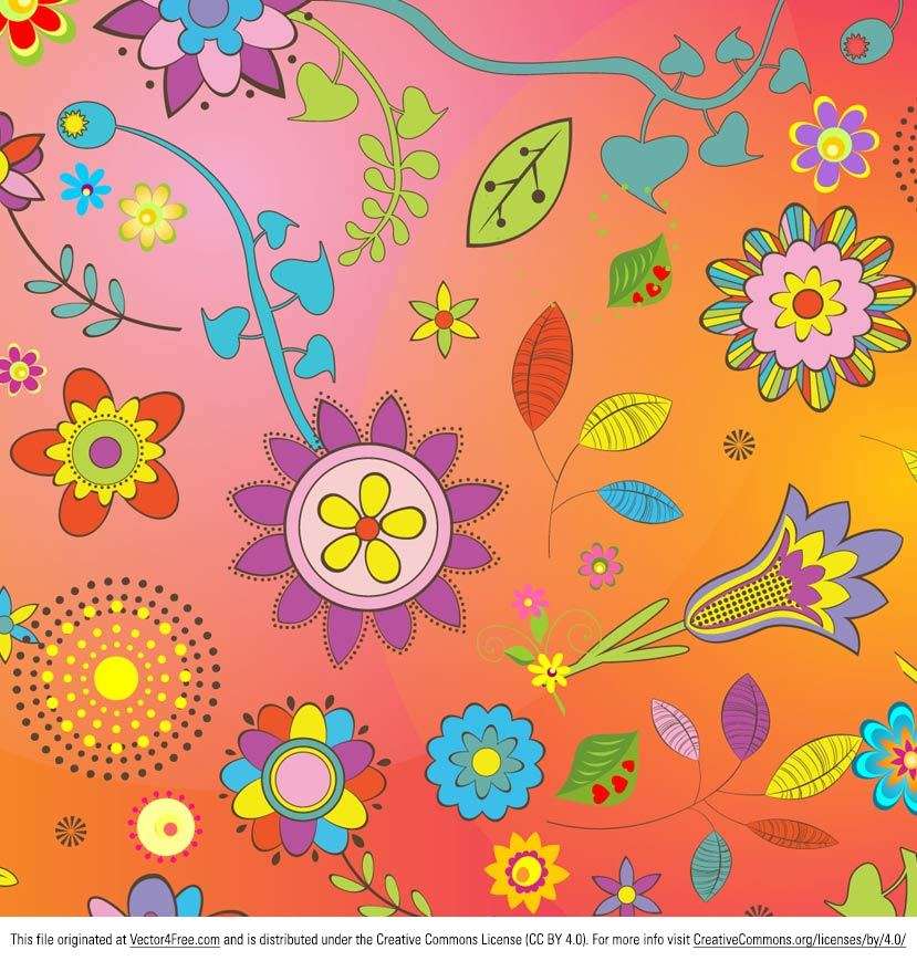 Thought we'd share a great flower vector today - this new Bright Summer Flower Vector Background! This flower vector background is filled to the brim with happy pink and yellow flowers - perfect for any project. This flower vector is under Creative Commons License.
