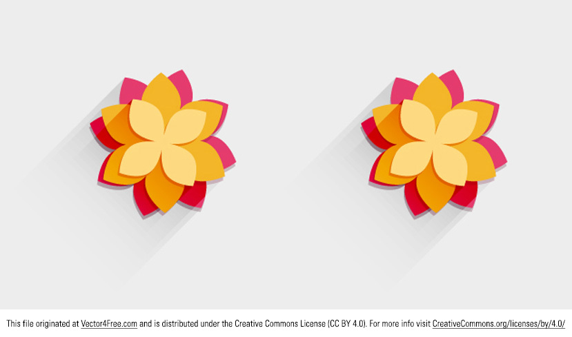 This bright new Decorative Flower Vector is super cute - I love it! This abstract flower vector has a summery color scheme and is ready for you to use in your next project. 