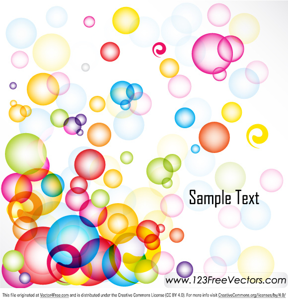 Free Abstract Colorful Background Vector Illustration. Free vector design by www.123FreeVectors.com