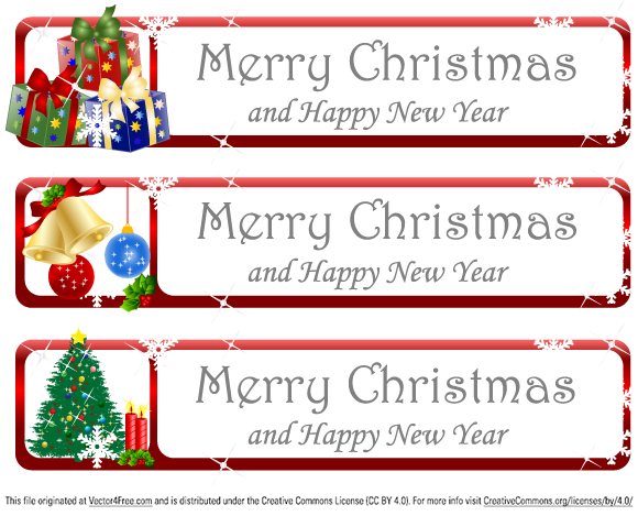 Christmas Vector: Free Christmas Greeting Banner Vector Illustration by www.123FreeVectors.com