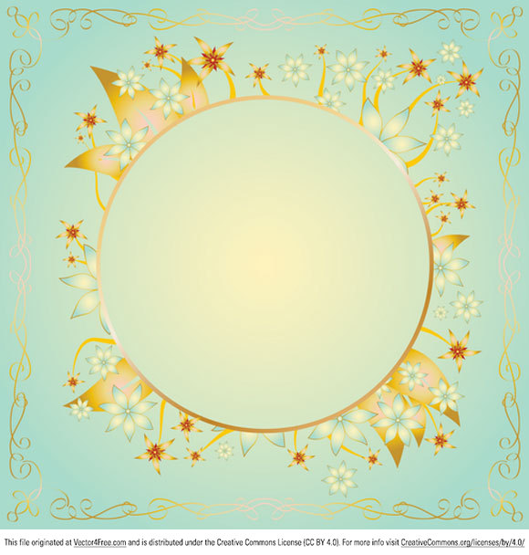 free gold frame design vector