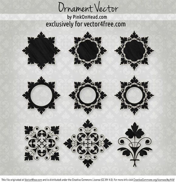Lovely ornament vector file free to download; exclusively for vector4free.com Redistribution is strictly forbidden!