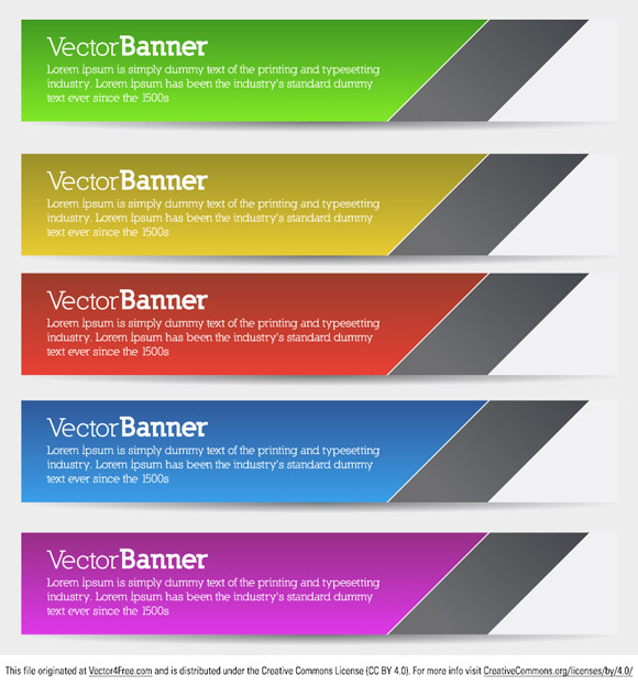 Today's free vector is a set of 5 minimal vector banners for you to download and enjoy. Feel free to use it commercial and non-commercial projects, personal websites and printed work, as long as it's a part of a larger design.