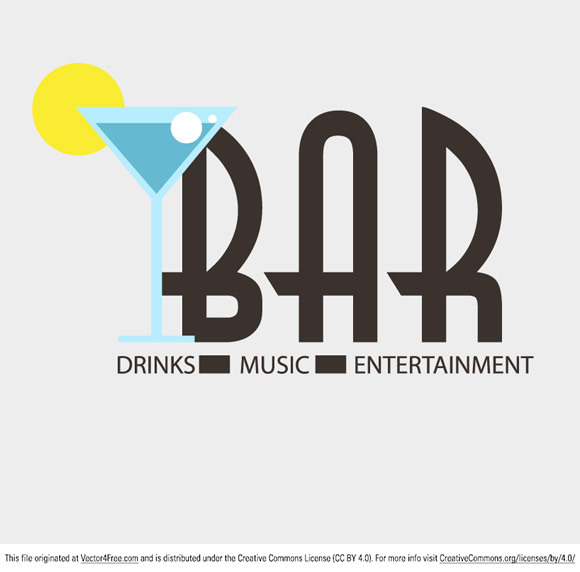 Need a logo for your local bar? Here's one to get you started! Download and enjoy! Feel free to use it commercial and non-commercial projects, personal websites and printed work, as long as it's a part of a larger design.