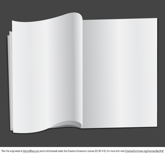 Today's free vector is a blank magazine for you to download, enjoy ...