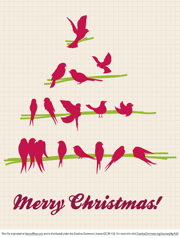 Today's free vector is a really cool vector Christmas tree with bird silhouettes. Download and enjoy! Feel free to use it in commercial and non-commercial projects, personal websites and printed work, as long as it's a part of a larger design. Please do not sell it, redistribute it yourself, claim it as your own or give it as a bonus item to boost sales for your own products.