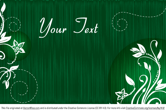 Free Vector Green Floral Text Banner by www.123FreeVectors.com