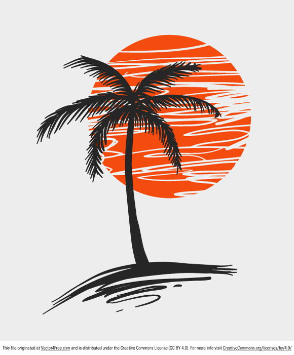 Today's freebie is a simple palm tree. Feel free to use it in commercial and non-commercial projects, personal websites and printed work, as long as it's a part of a larger design. Please do not sell it, redistribute it yourself, claim it as your own or give it as a bonus item to boost sales for your own products. Download it now!