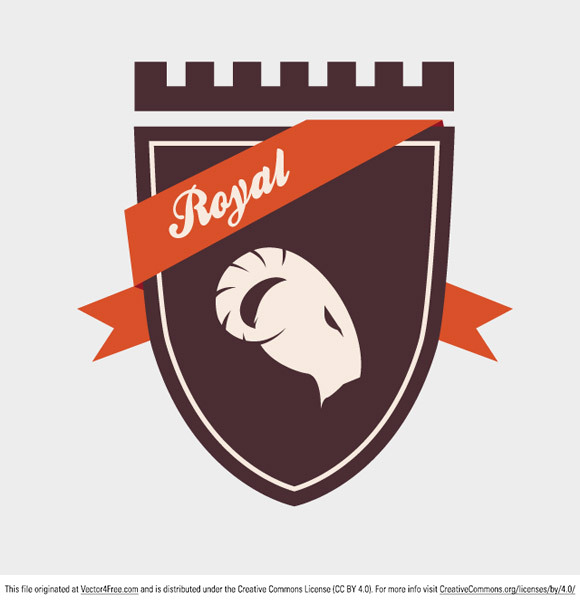 Today's free vector is a really cool royal crest with a ram. Download and enjoy! Feel free to use it in commercial and non-commercial projects, personal websites and printed work, as long as it's a part of a larger design.