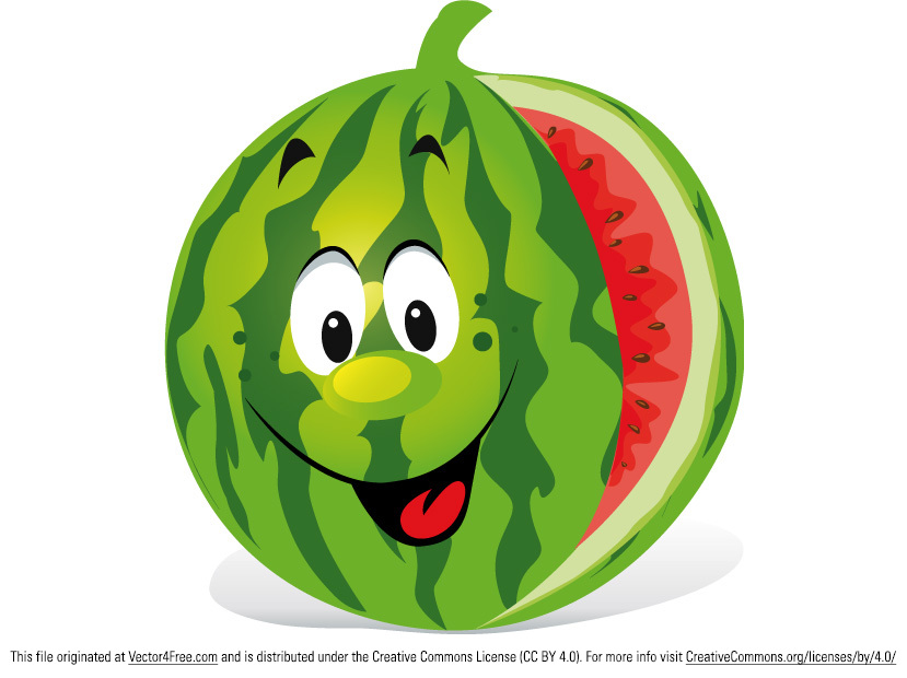 We have a very hot summer this year. This smiling watermelon will cheer you up.  Download this free 