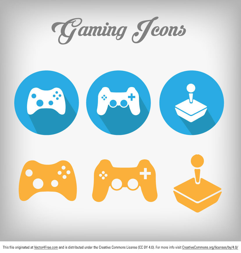 Check out our new big set of colored gaming vector icons!! Designed by www.digimadmedia.com