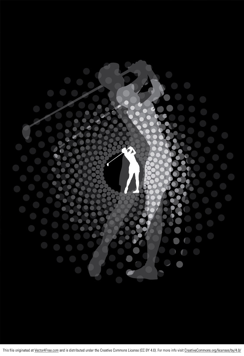 Introducing the new Golfer Vector Silhouette! This golfer vector silhouette is of a golfer completing a full motion swing. Use this Golfer Vector Silhouette for all your sport related projects.