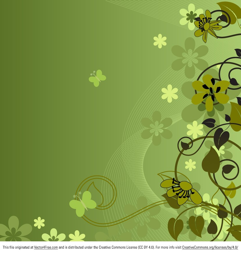 Sometimes, all that you're missing is a Green Floral Background vector. We're proud to present to you this beautiful green floral background vector. Download it for free and you'll see how useful this green floral background vector really is.
