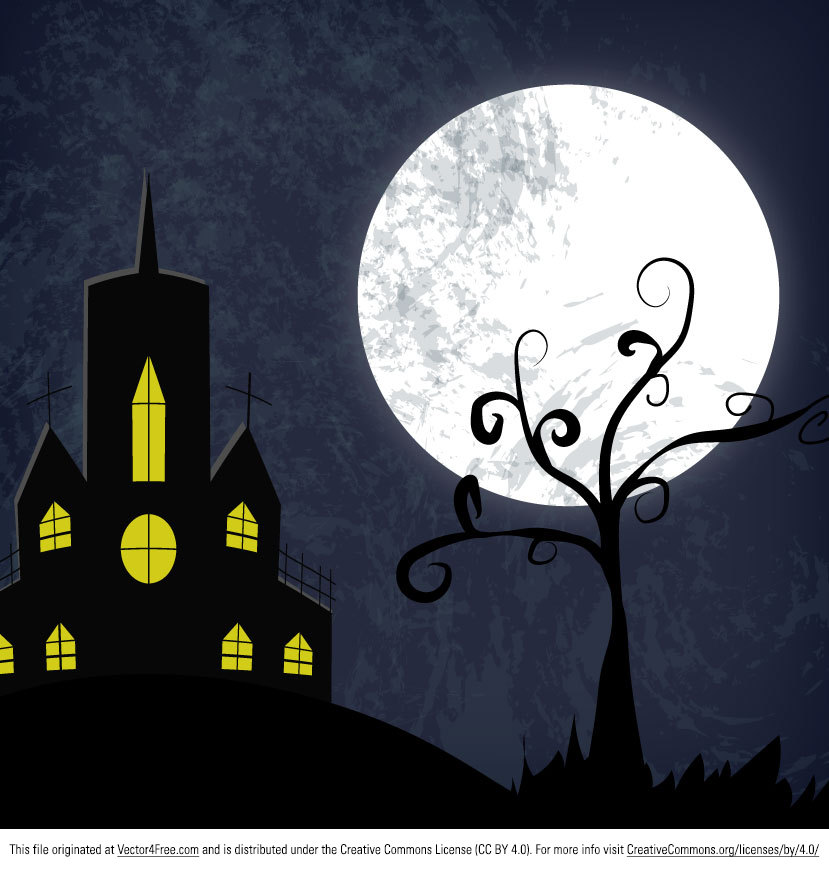 Here's a super spooky free Haunted House Vector Art that you can use in tons of Halloween projects. Download from http://www.digimadmedia.com