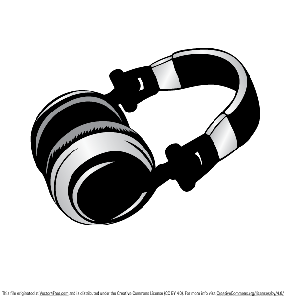 Cool headphone vector graphic free to use.