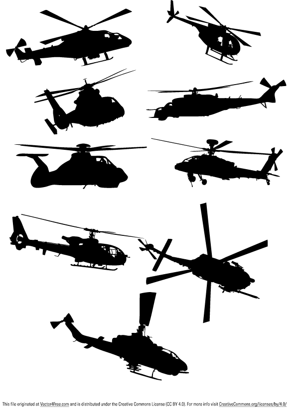 Helicopter Vector Pack is my first vector set ever. Hope you find this vector collection of helicopters useful.