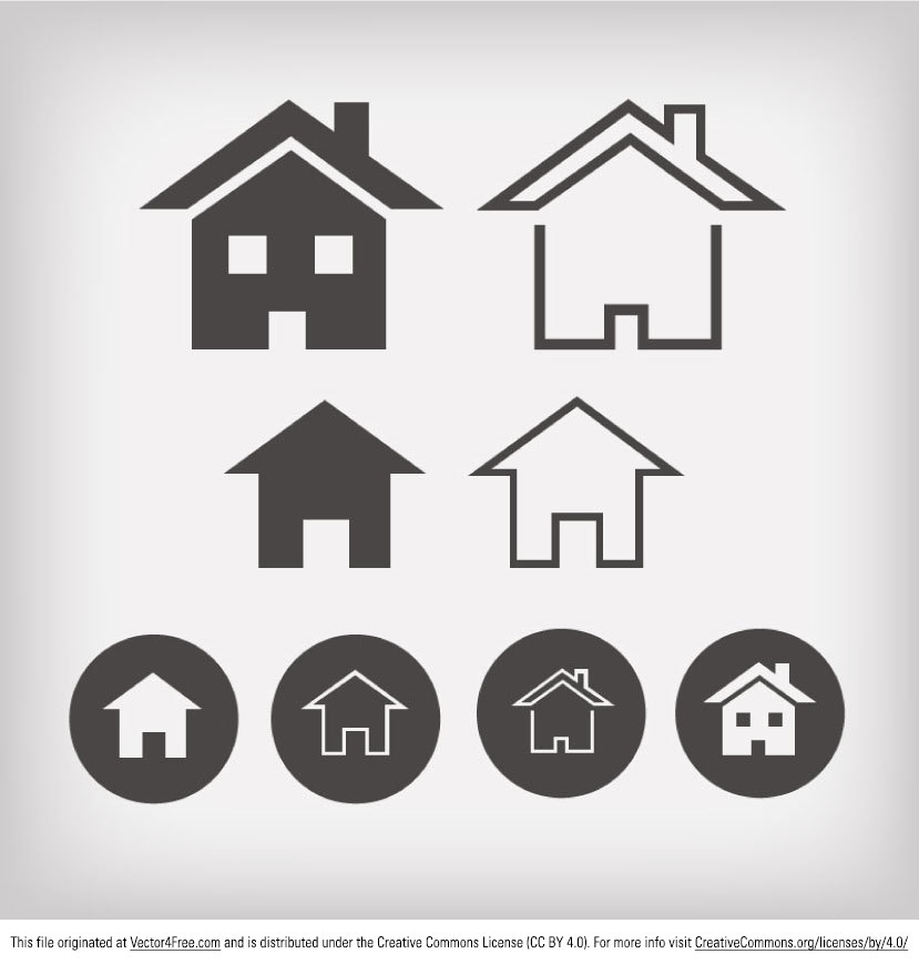Hereu0027s A New House Icon Vector Pack That Has A Flat Design. A Simple And