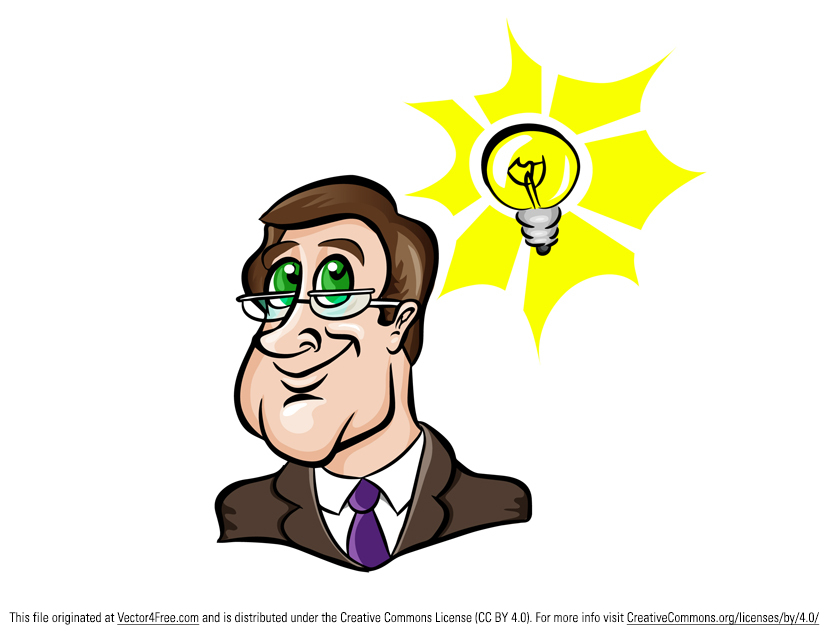 Thinking, thinking, thinking. Thoughts are what drives invention and innovation. This free vector man with idea can be used for projects related to thinking, ideas, new ideas, and brainstorming.