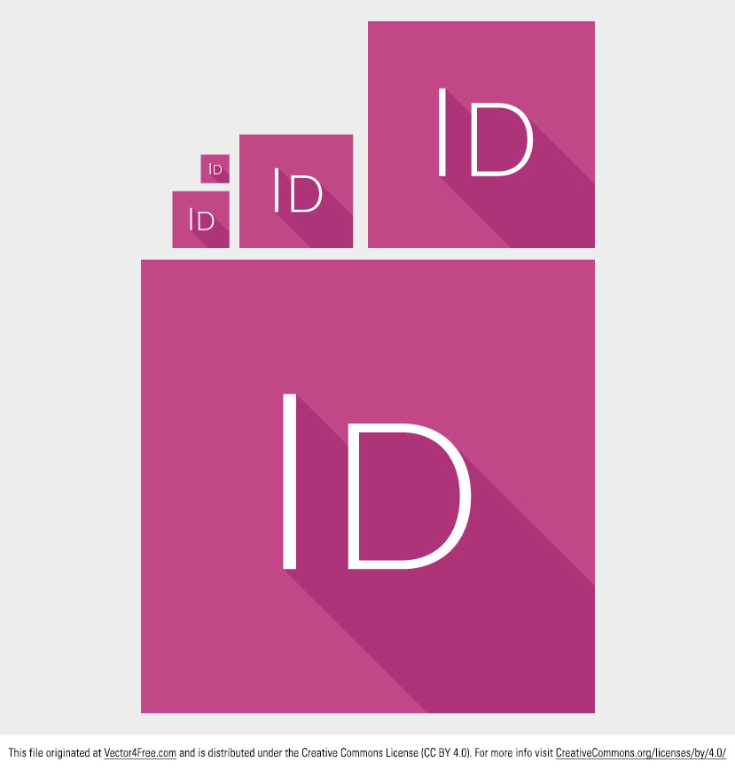 Needing an icon vector for your favorite design program? Introducing the new Free Vector Indesign Icon pack. With this icon vector pack you'll receive pink square vector icons. Feel free to use these vector icons for personal and commercial work, but please do not redistribute or resell the file as your own.