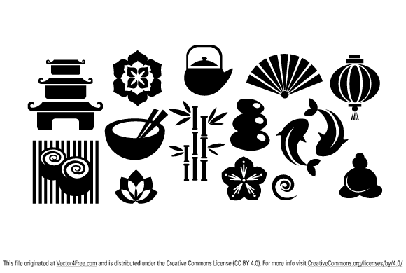 Great pack of japanese elements. You can use it in your designs for free. Like always remember to visit author's site if you download this free vector collection.