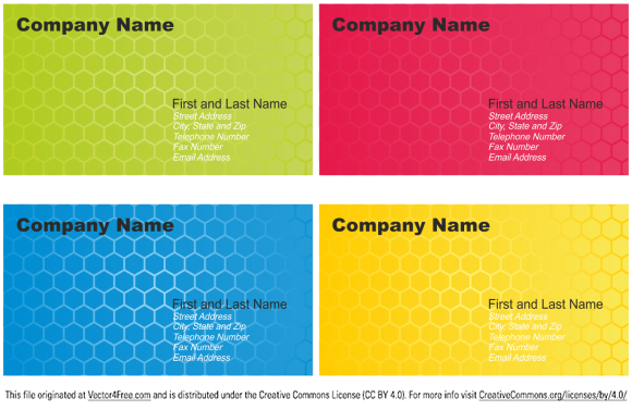 Set of Business Card Designs. Free business card templates