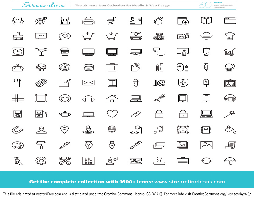Introducing the new Huge Free Icon Vector Pack! These tech icon vectors and media icon vectors would be great in so many of your upcoming projects. And you'll love how many icon vectors are in this pack!