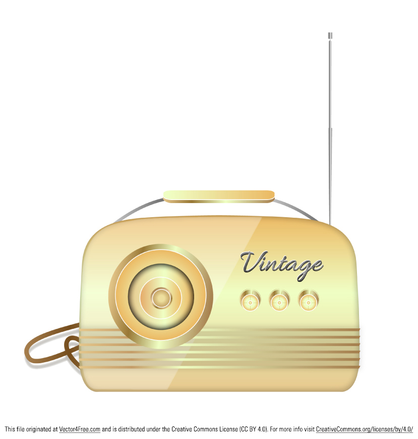 Here's my new vintage radio vector. This radio vector can be used free for commercial use.