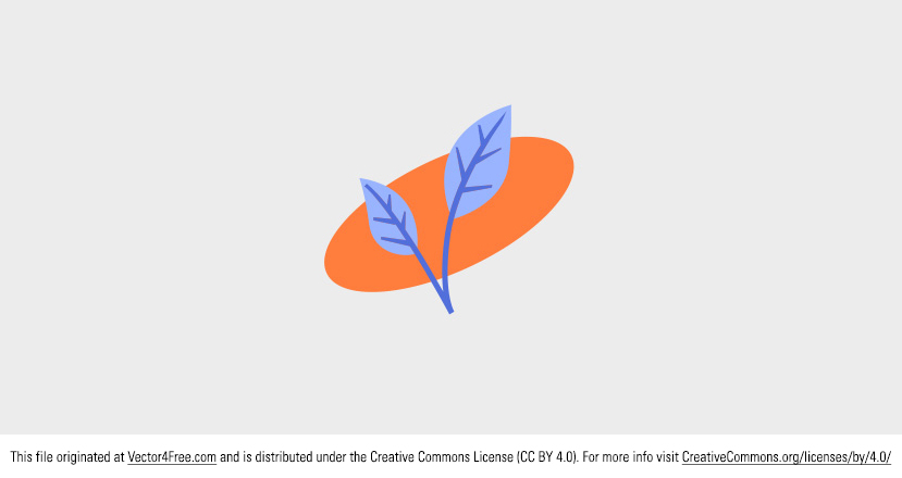 Spring is here, so I'm introducing this new Free Vector Spring Leaf that has a great blue and orange color scheme. Today's freebie vector is a vector leaf. Feel free to use it in commercial and non-commercial projects, personal websites and printed work, as long as it's a part of a larger design.