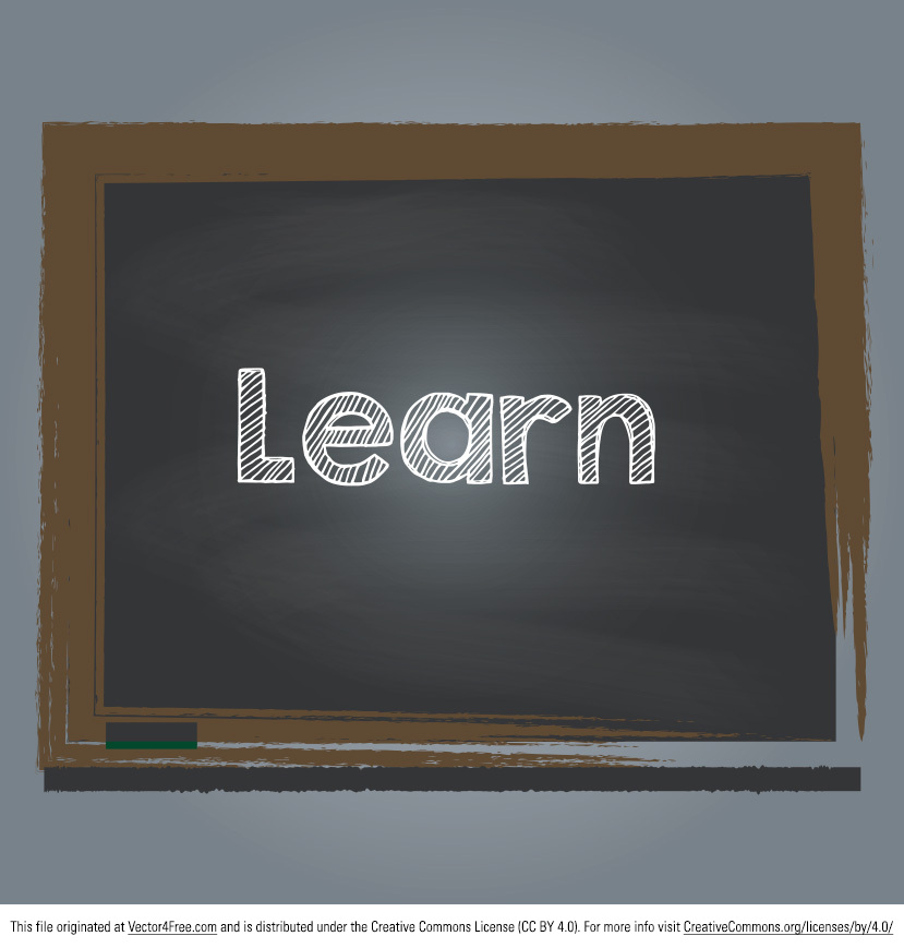 Start working with this new free Learn Chalkboard Vector. With its chalk text and simple design, the new chalkboard vector will make its way into so many of your projects. You will just love the looks of the new Learn Chalkboard Vector.