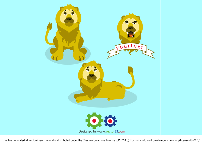 Need some new African and safari animal vectors? Here's this great new Free Vector Lion Pack that you'll love. With this download you'll get three free lion vectors.